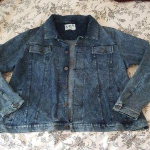 Soft lightweight denim jacket - medium acid wash